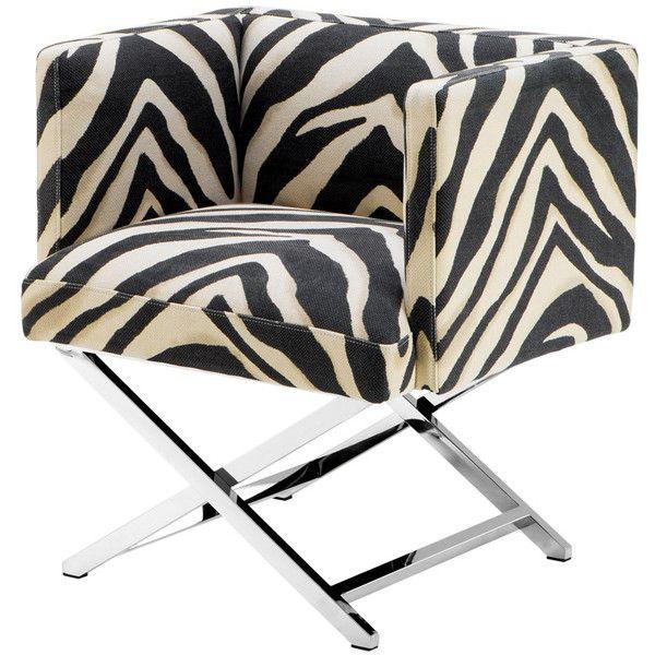 eichholtz dawson chair zebra print 3 495 sar liked on polyvore