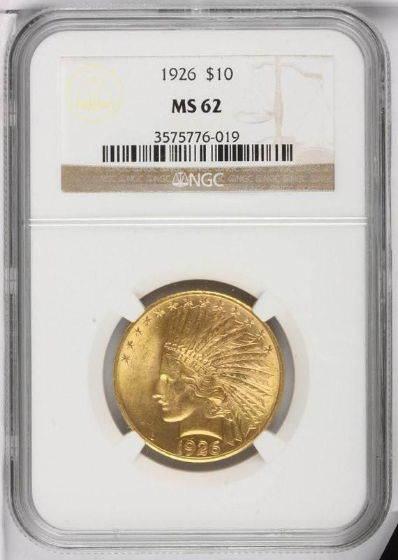 Indian Head 10 Dollar Eagle Antique Gold Coin Ms62 Ngc Or Pcgs Cir 1907 1933 Stock Photos Gold Coins Antique Gold Rare Coins