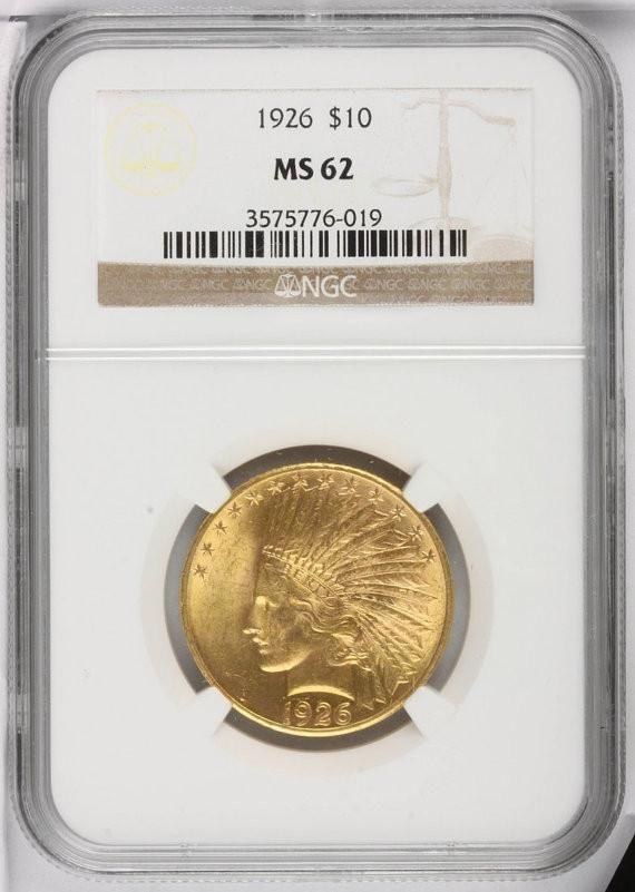 Indian Head 10 Dollar Eagle Antique Gold Coin Ms62 Ngc Or Pcgs Cir 1907 1933 Stock Photos Gold Coins Antique Gold Rare Coins