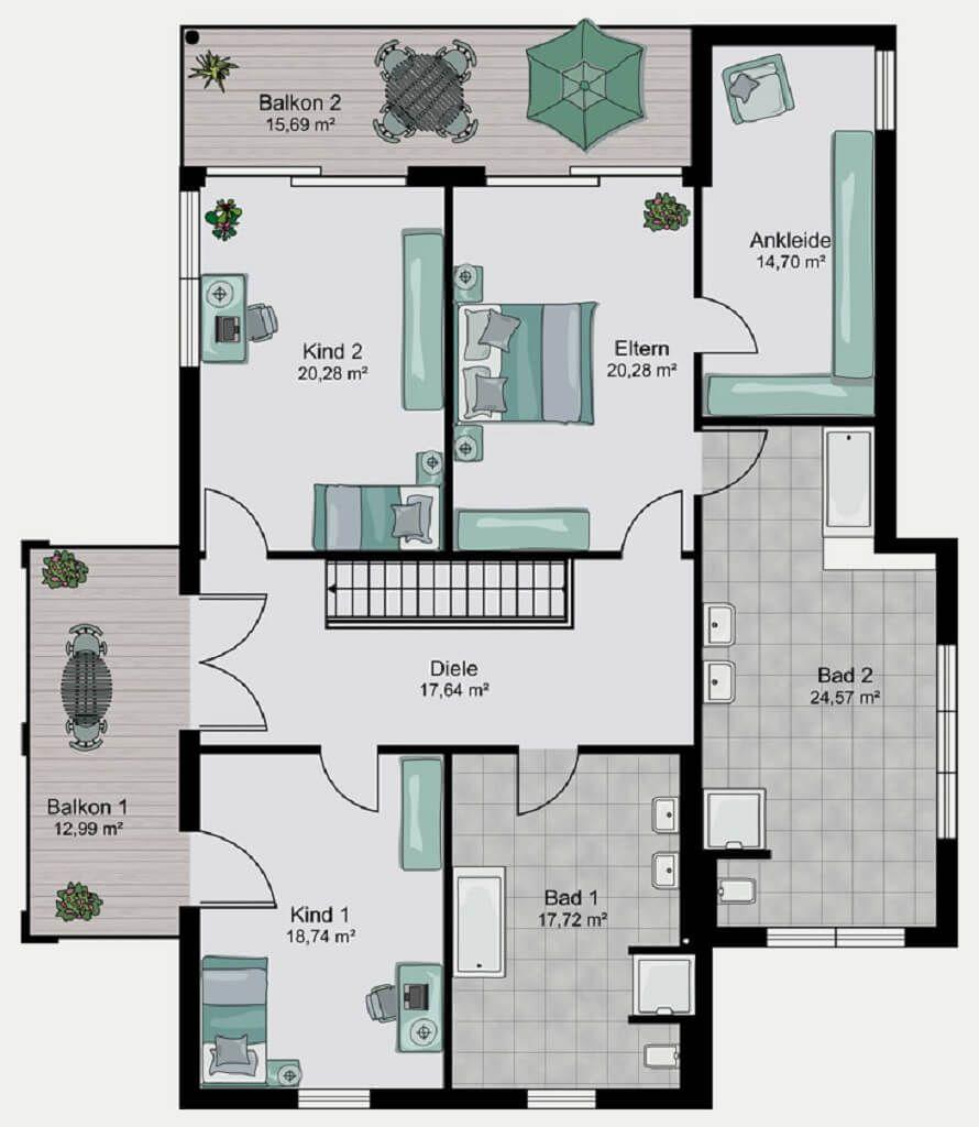 Grundriss Einfamilienhaus Haus Dessau