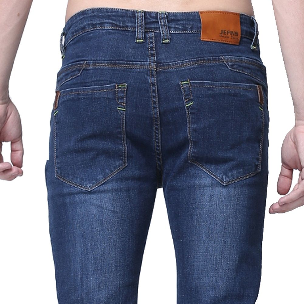 Fashion men casual jeans slim fit skinny pants men