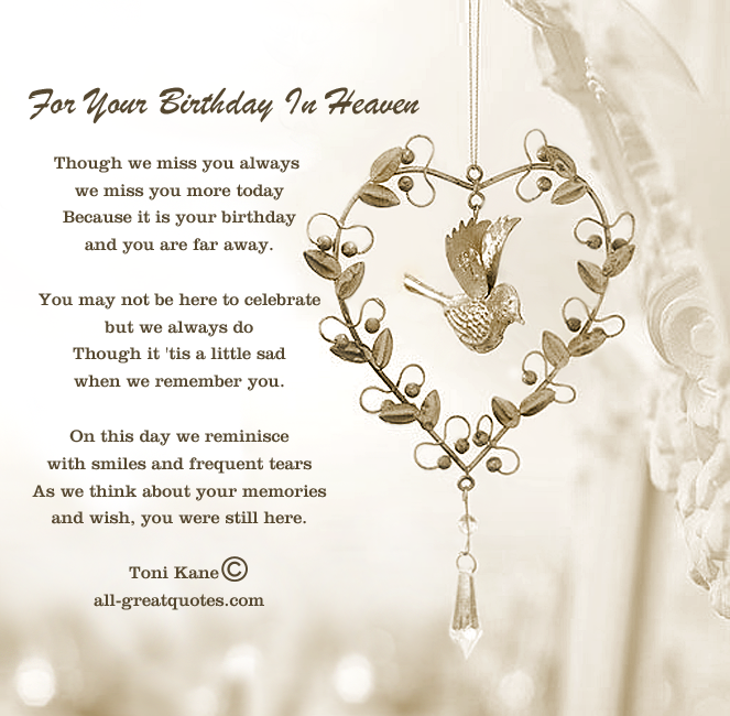 Free Birthday Cards For Lost Loved Ones For Your Birthday In