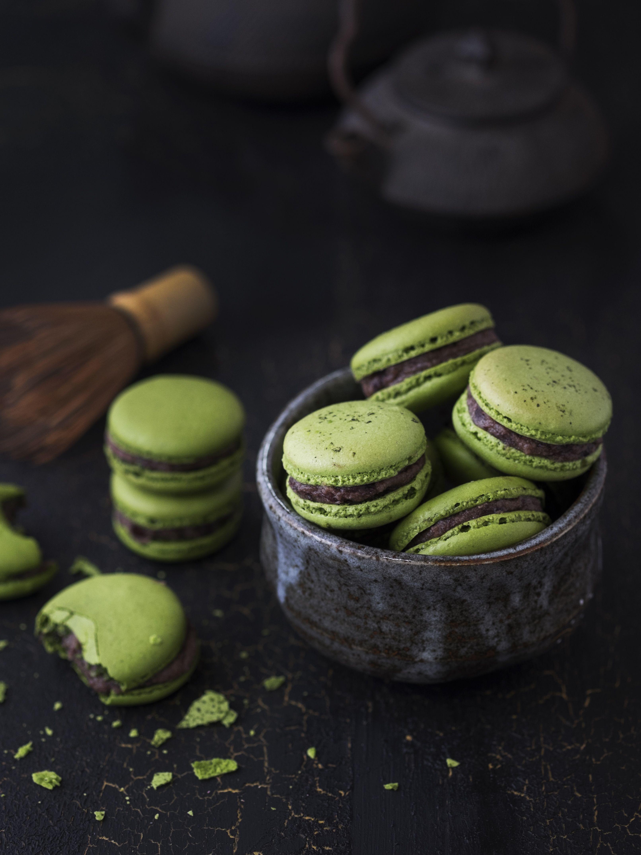 Photo of matcha macarons azuki recipe