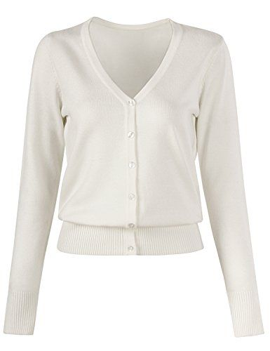 Domic Women Button Down Cardigan V Neck Long Sleeve Soft Knit Cardigan  Sweater 7d028dbc1