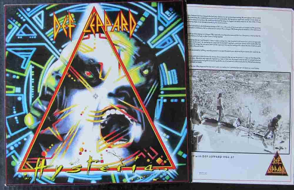 Def Leppard Hysteria Lp Vinyl Record Free Shipping Def Leppard Hysteria Def Leppard Vinyl Records