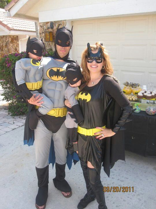 Batman family costume.