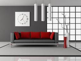 Gray And Red Living Room Interior Design This Room Is A Great Example Of Accentedneutralthe Red Accents