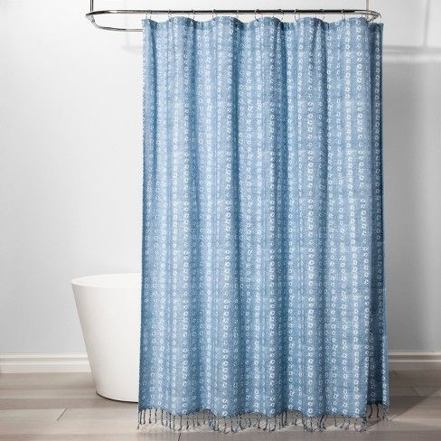 Shapes Shower Curtain Borage Blue Threshold Blue Shower