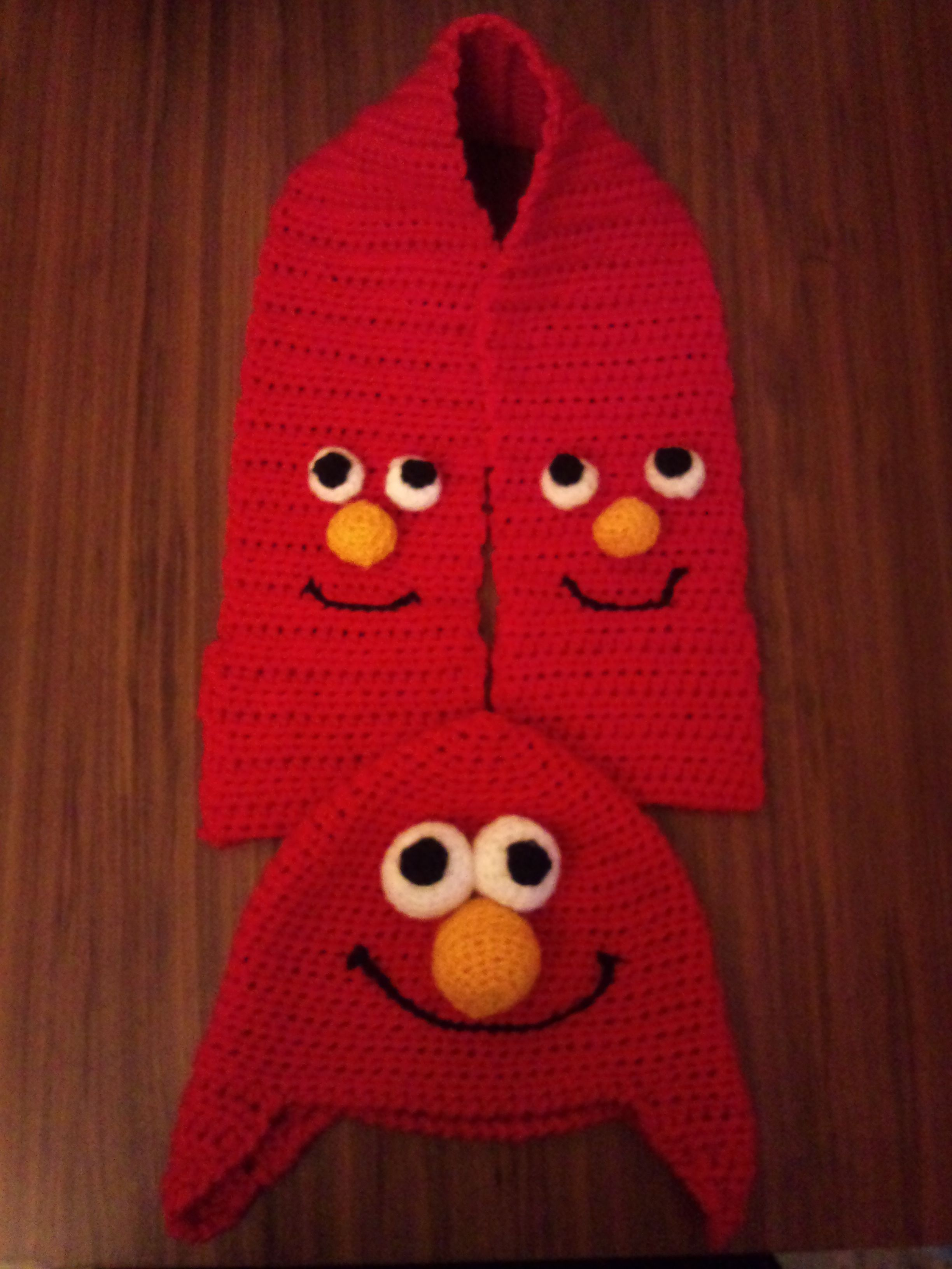 Elmo themed hat and Scarf | crafty corner | Pinterest | Knüpfen ...
