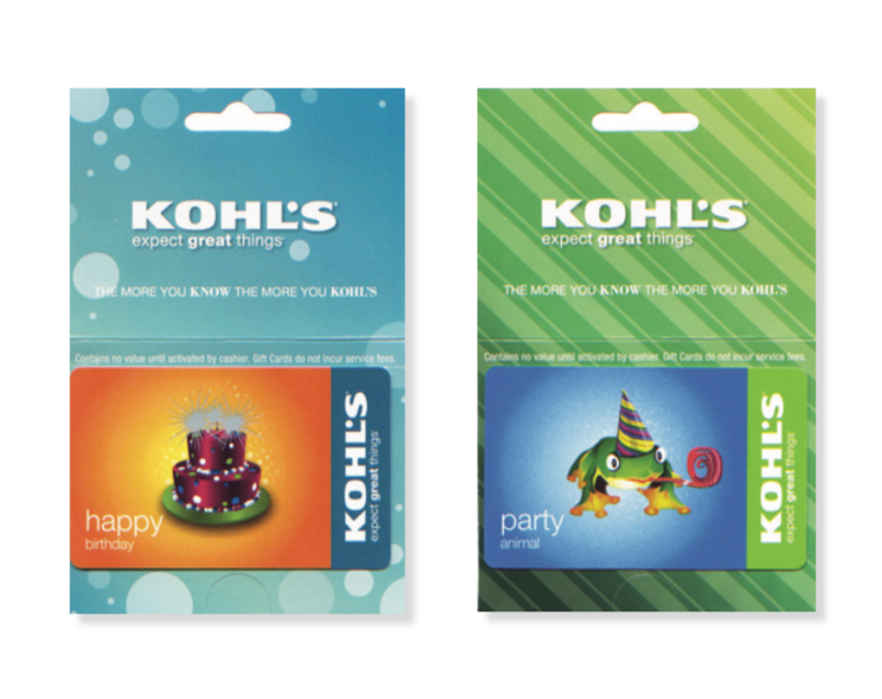 Kohl S Gift Cards On Behance Gift Card Cards Happy Party