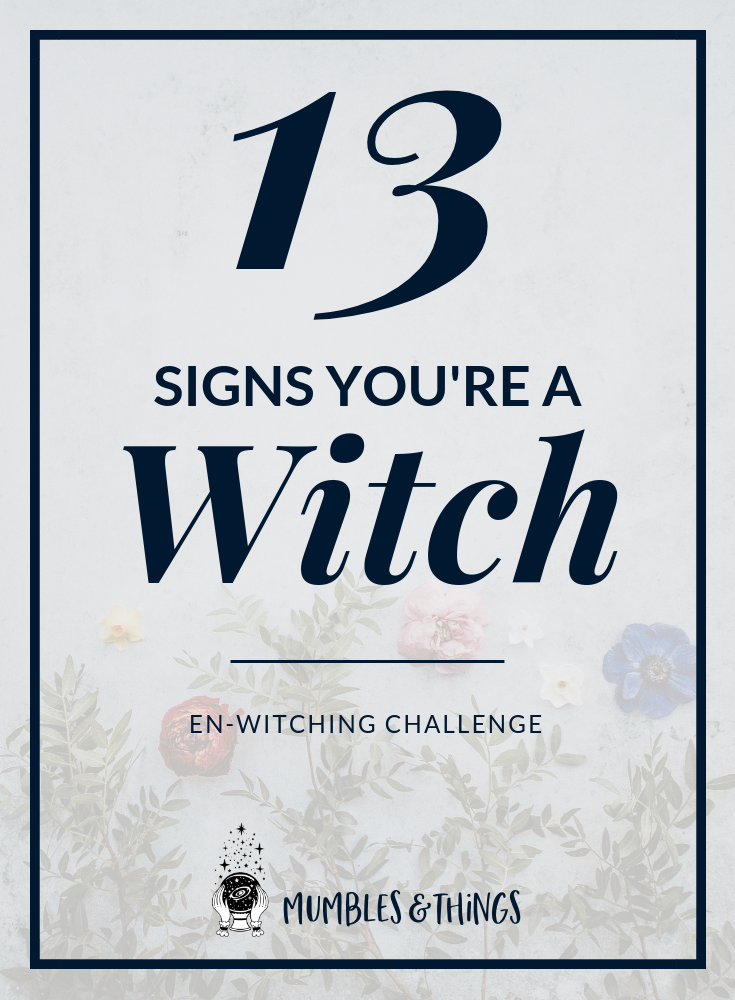 1. Earth 2. Moon 3. Wisdom 4. Nature 5. Animals 6. Powerful 7. Healing 8. Outsider 9. Collections 10. Magick 11. Intuition 12. Divination 13. Death #witchesgonnawitch #witchcity #witchstyle #witchyways #paganwitch #witchylife #witchplease #witchygirl #ontheblognow #magicallifestyle #dailywitchcraft