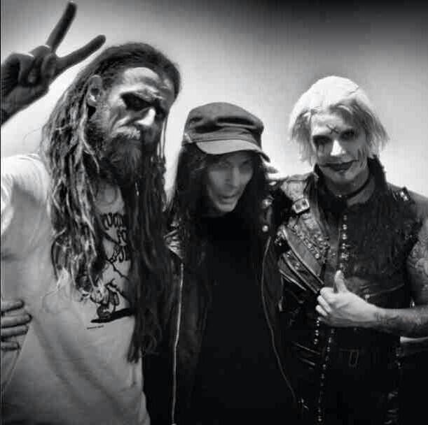 Mick, Rob Zombie and John 5