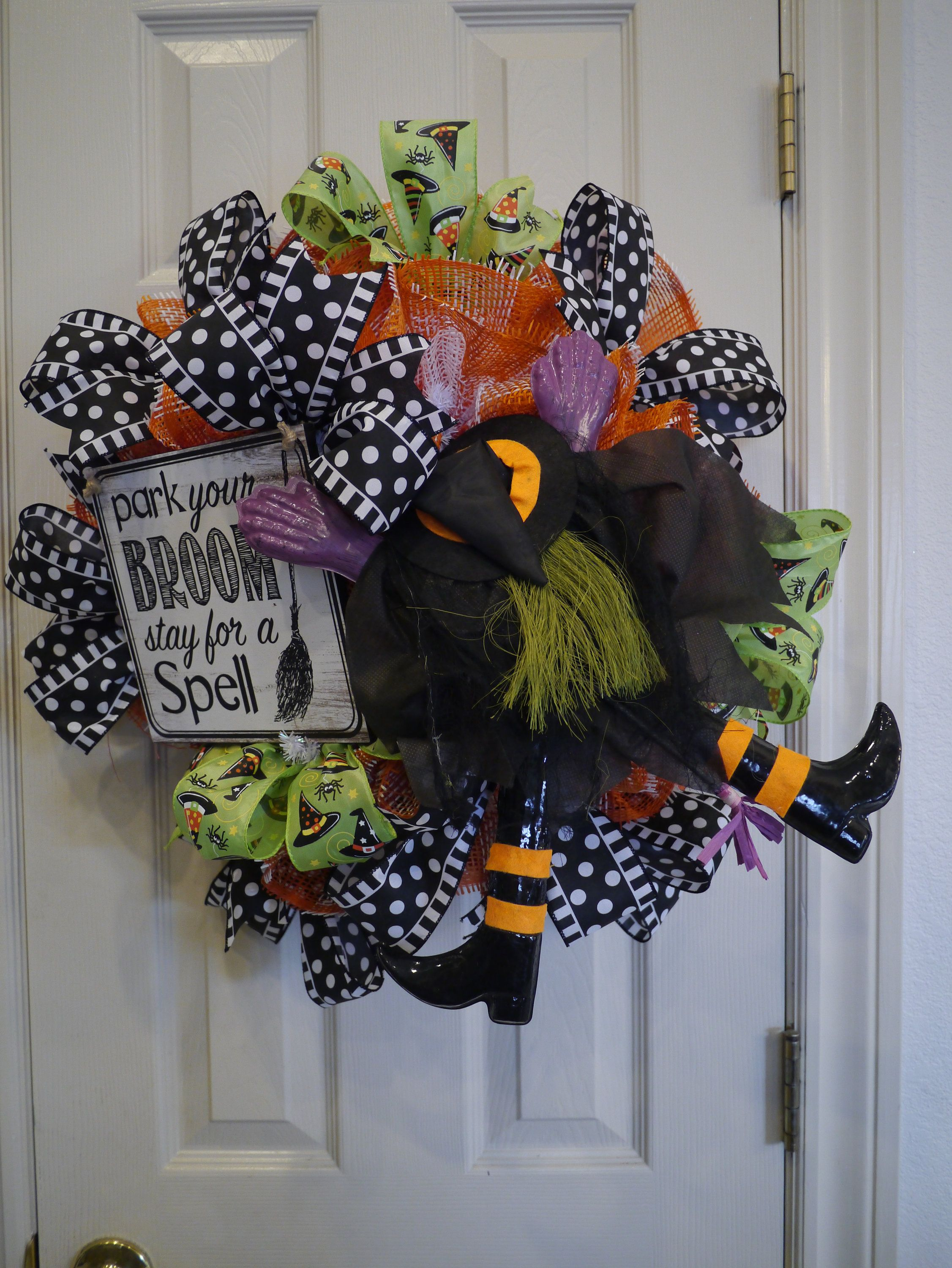 Halloween, Halloween Witch Wreath, Whimsical Witch Wreath, Witch - whimsical halloween decorations