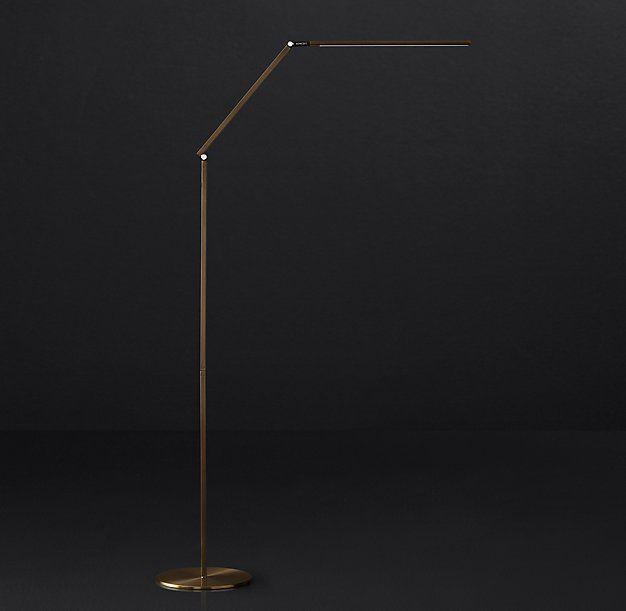 Z bar led task floor lamp