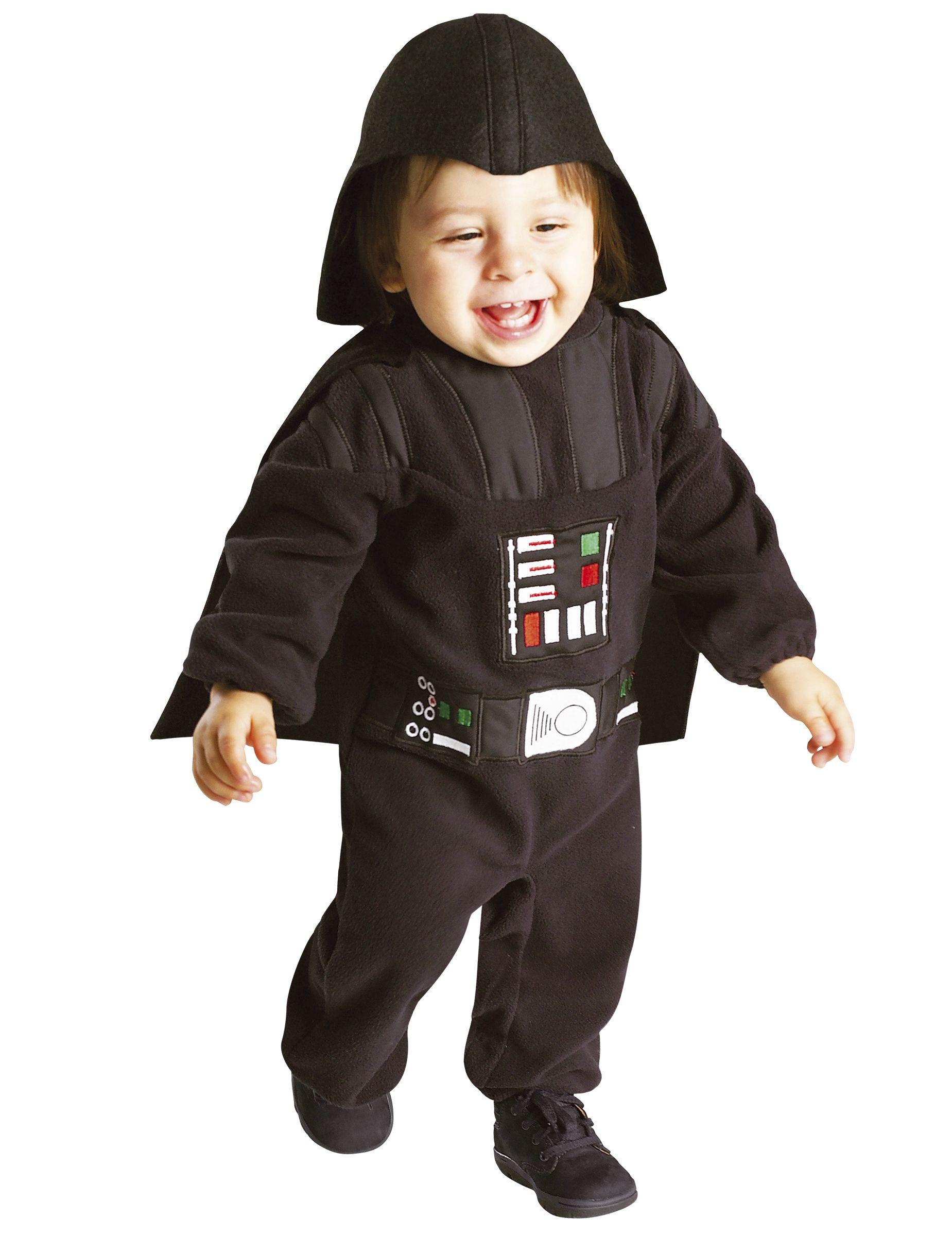 Dit Star Wars™ Darth Vader™ kostuum voor baby's zal ideaal geschikt zijn als carnavalskleding voor uw allerjongste! - Nu verkrijgbaar op Vegaoo.nl