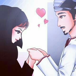 Pin By Hassan Rajpoot Sonu On Musĺ M Anime Couples Islamic Cartoon Cute Muslim Couples Muslim Couple Photography