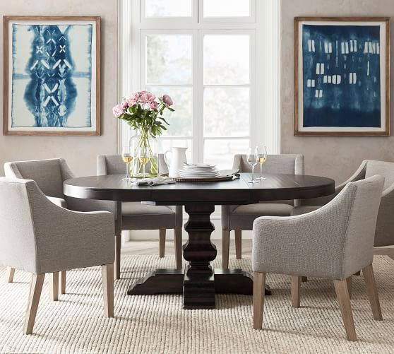 Round Pedestal Extending Dining Table, Round Pedestal Extending Dining Table