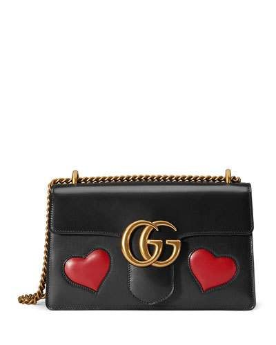 1b4bdfe37a4 V2ZSA Gucci GG Marmont Medium Heart Shoulder Bag