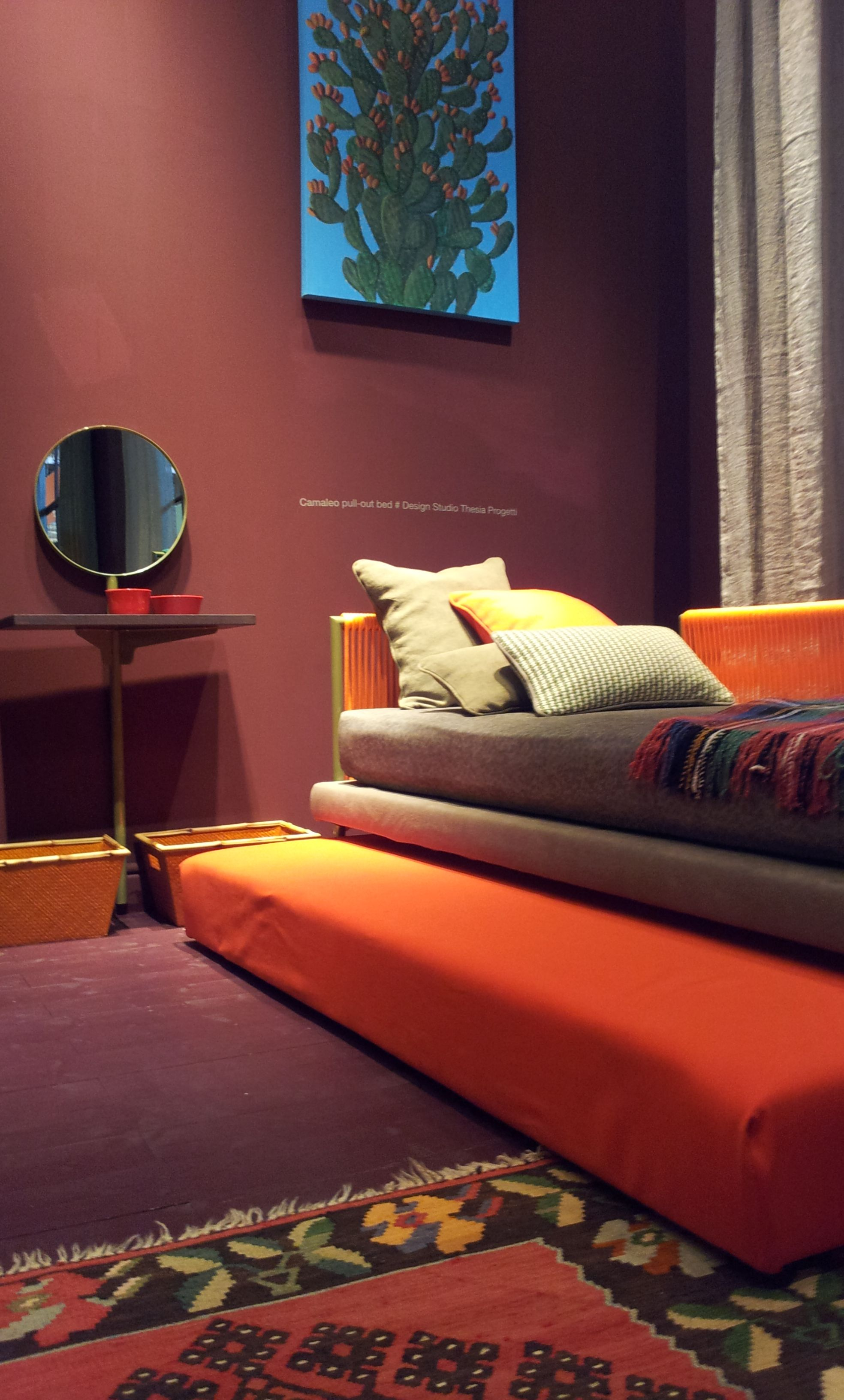 Burnt Orange Paint Deep Red And Burnt Orange By Twils Salone Del Mobile Milan