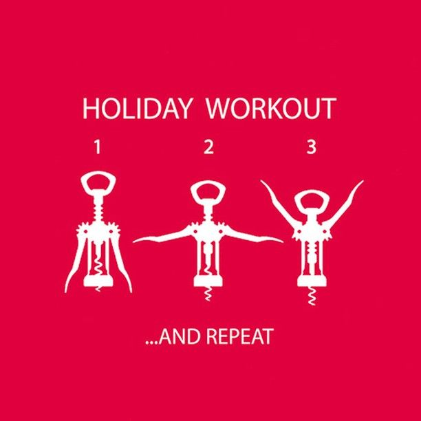 Now this is our kind of holiday workout!