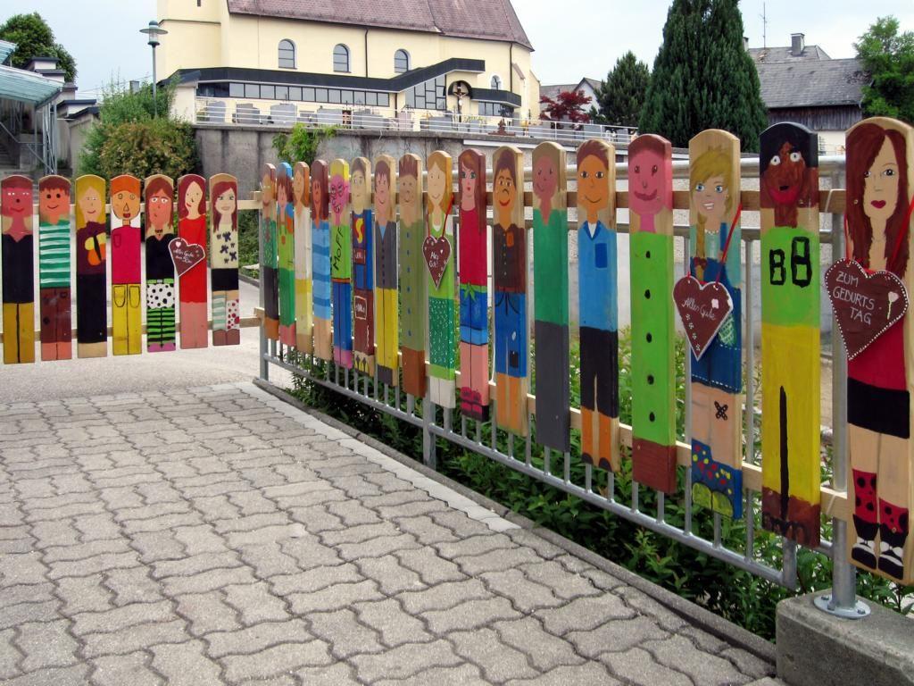 Zaun Latten Class Room Kindergarten Art Und Garden Art