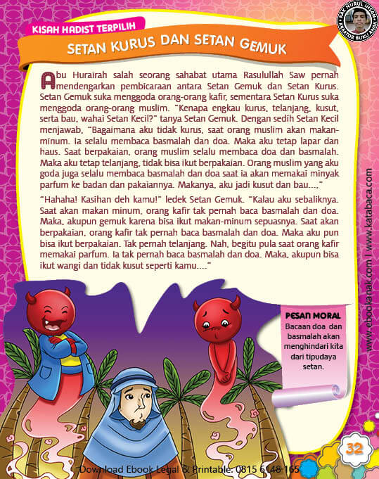 Ebook Pdf 77 Pesan Nabi Untuk Anak Muslim Kisah Hadis Terpilih Setan Kurus Dan Setan Gemuk 39 Anak Buku Anak Buku