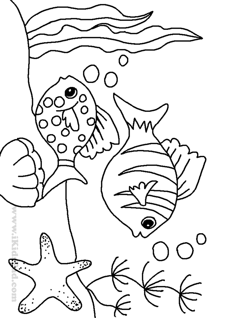 The cartoon sea animals coloring pages are so fun for kids to color