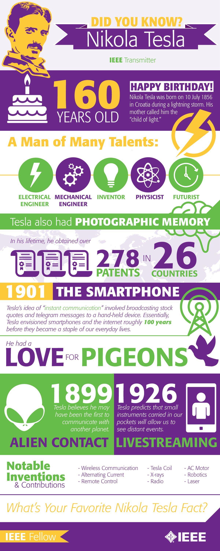 Tesla-infographic   Places to Visit   Pinterest   Vida y Cosas