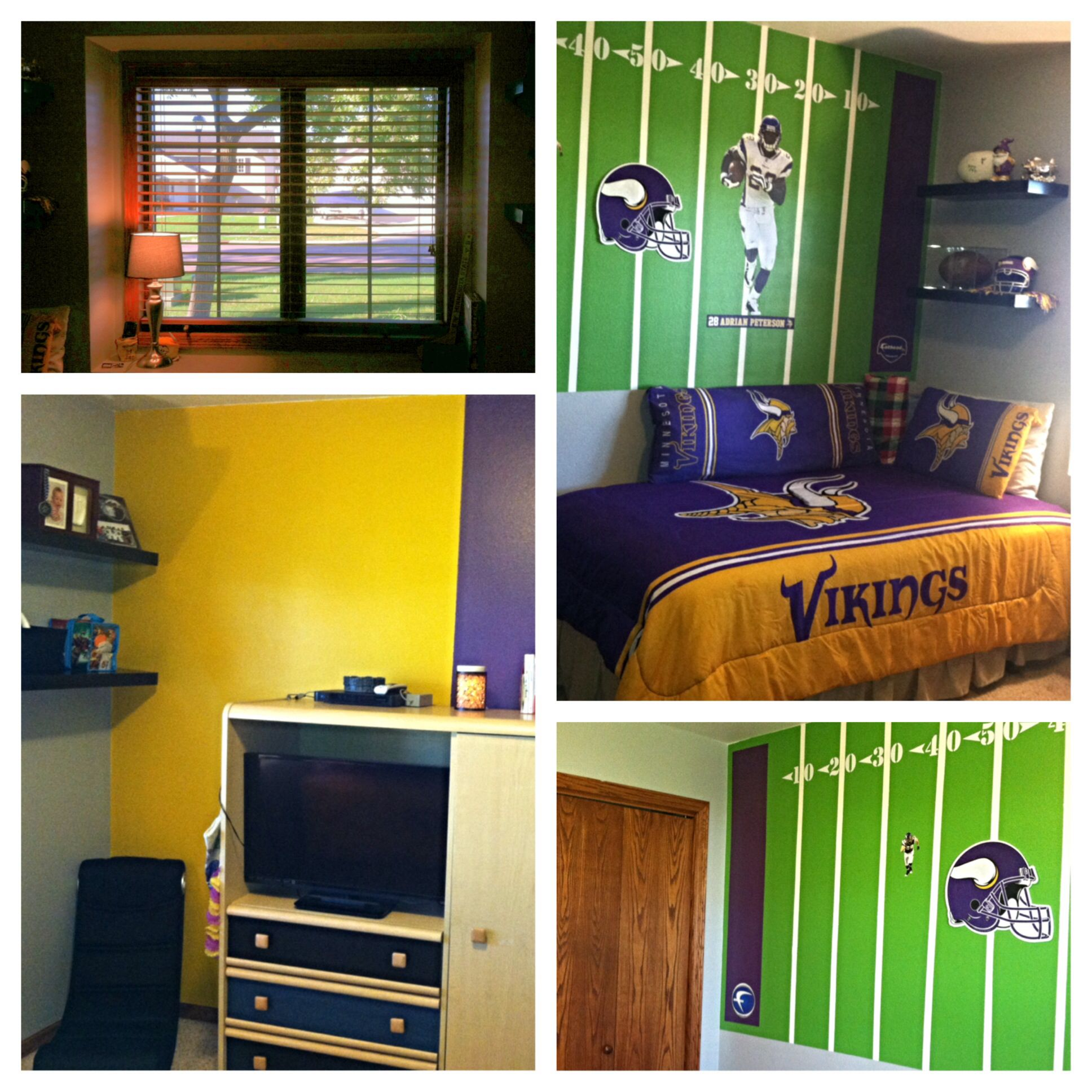 Childrens Football Bedroom Ideas: Minnesota Vikings Bedroom For My 9 Year Old Son. Skol