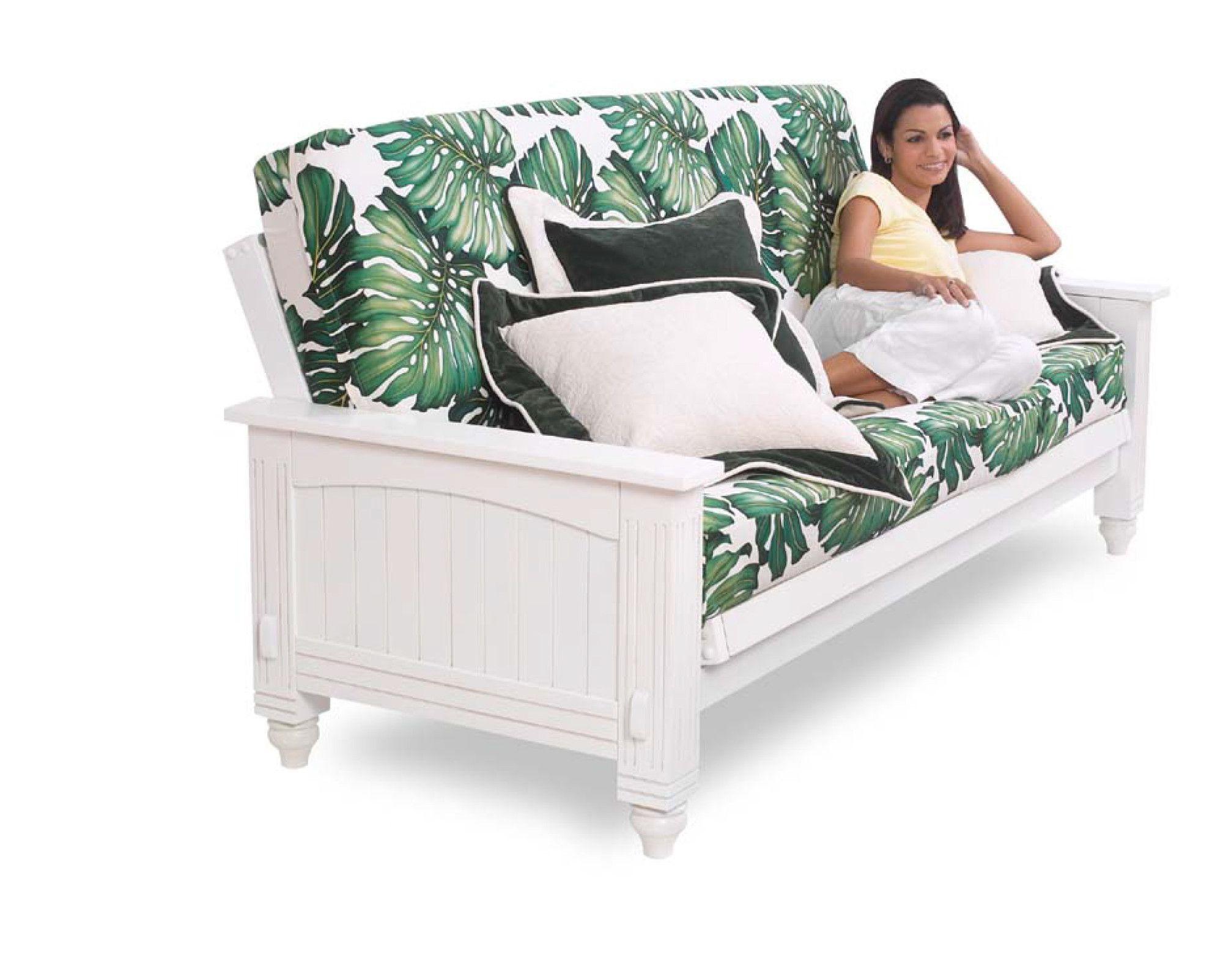 Cottage Futon Frame White futon, Futon frame, Futon bed