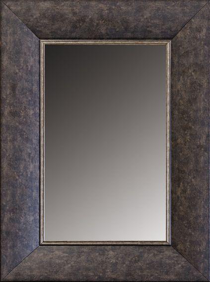 Espejo Marco Madera Espejo sin bisel marco madera lacada- Ancho de ...