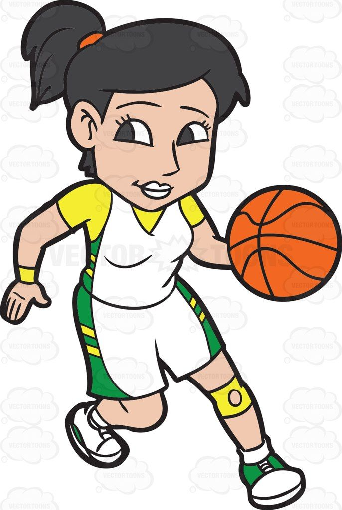 A Female Basketball Player Practicing Her Moves Before A Game Basketball Players Basketball Birthday Parties Basketball Girls