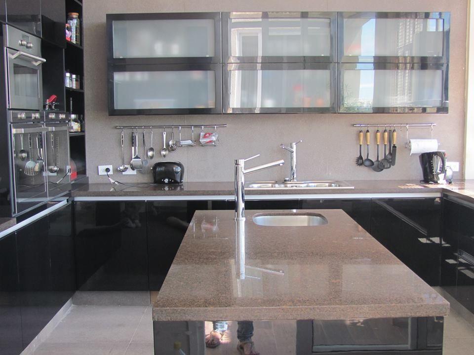 black kitchen mueble de cocina color negro laqueado brillante info ...