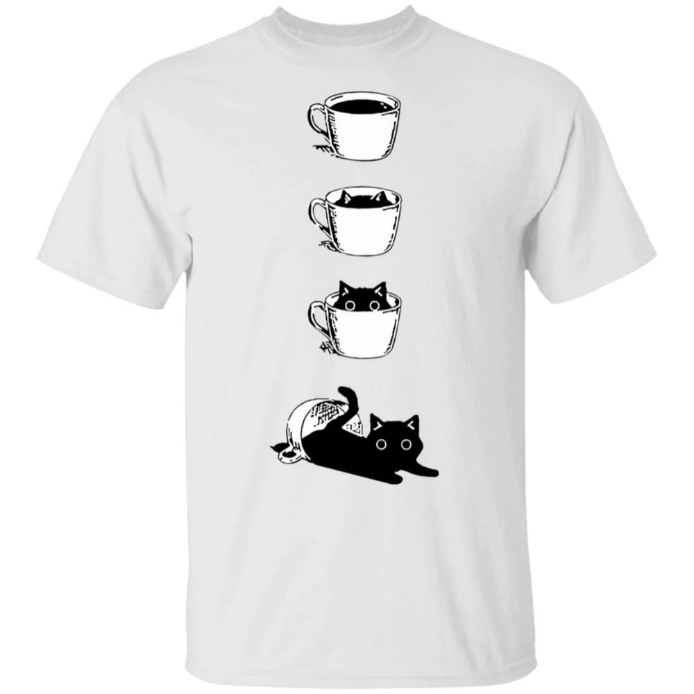 Coffee Cat Cup Shirt in 2020 Cat dad, Kittens cutest, Shirts