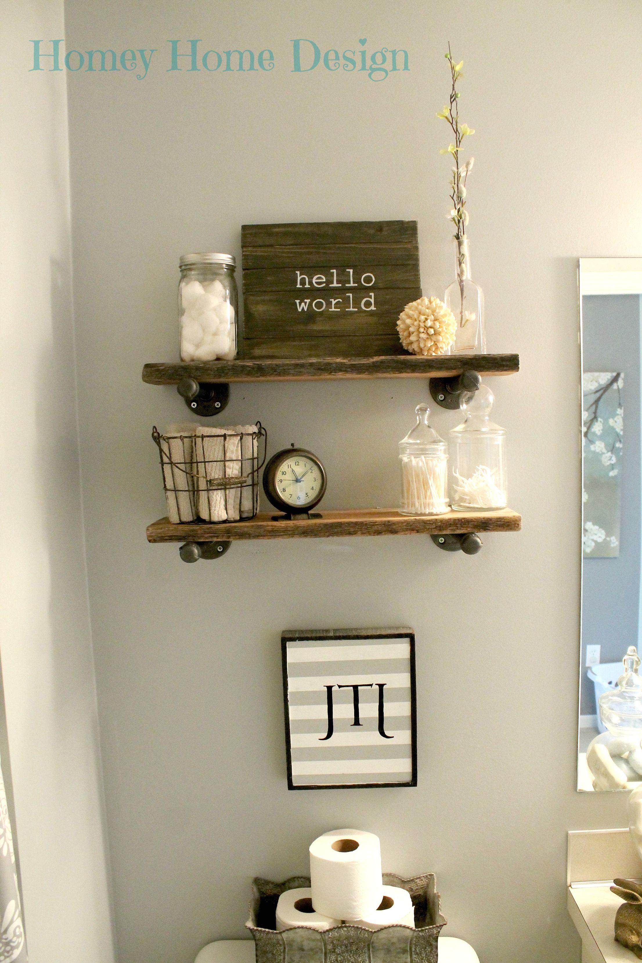 Homey Home Design Bathroom barnwood shelving | India home ...