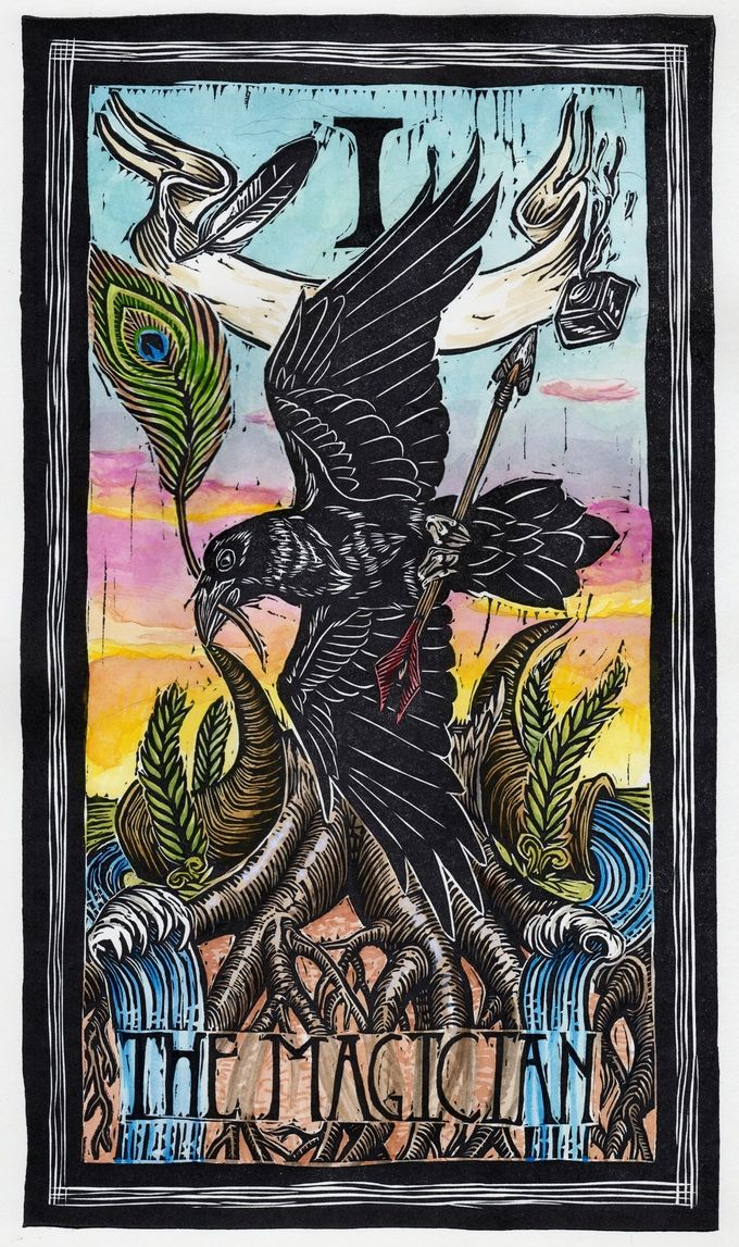 The Magician (Raven) A Lush 78-card Tarot Deck With Birds