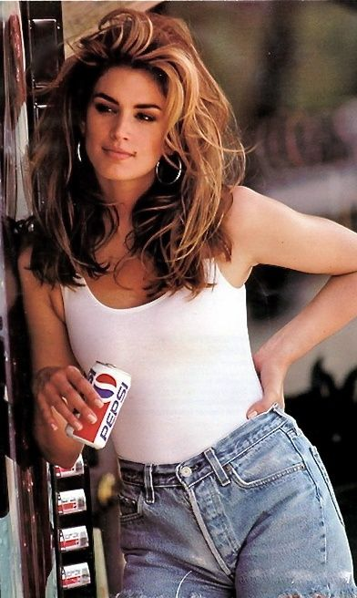 Cindy Crawford: Those cut off Levis helped make this commercial iconic! #90sstyle