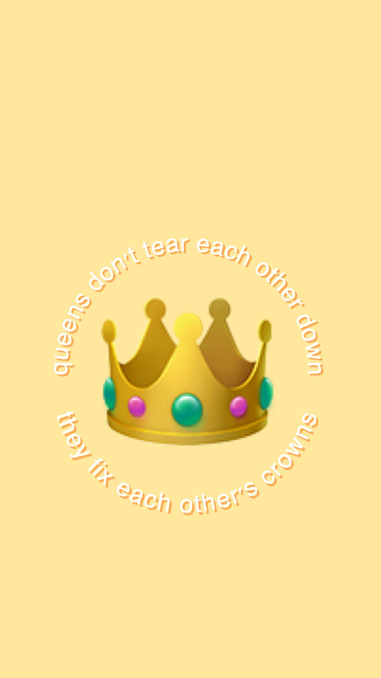 Wallpaper Background Aesthetic Iphone Crown Queen Arthoe Art In