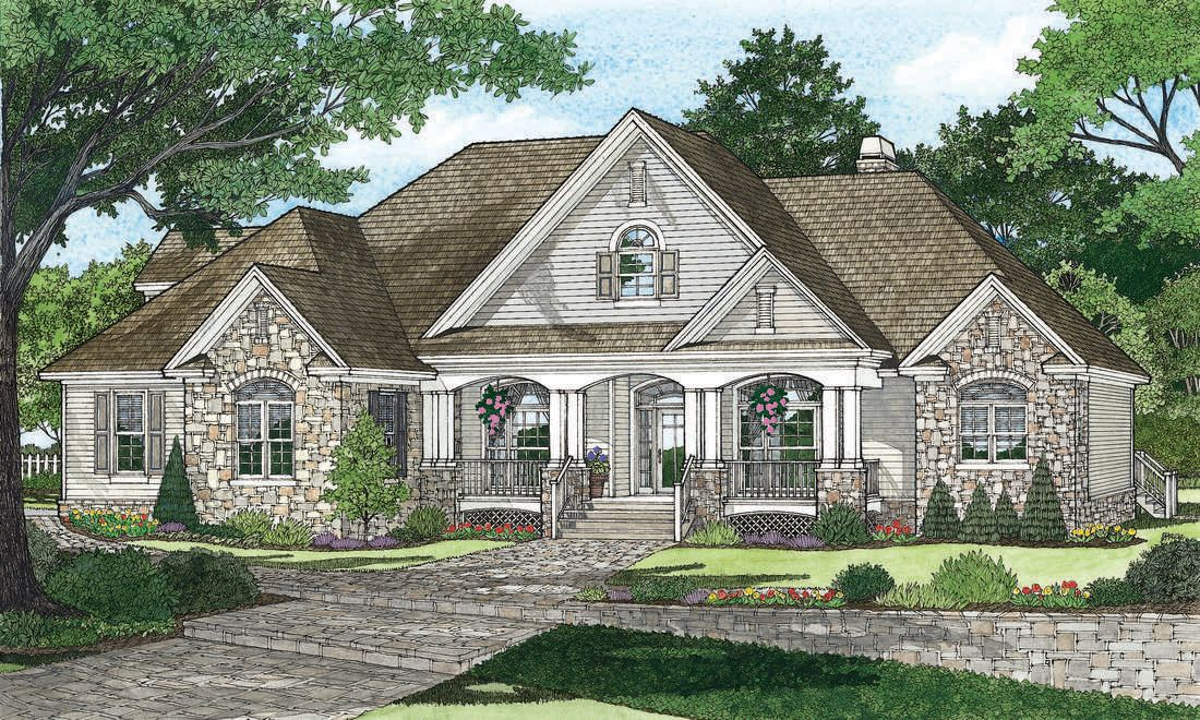 Home Plan The Evangeline By Donald A Gardner Architects Craftsman House Plans Traditional House Plans Craftsman House