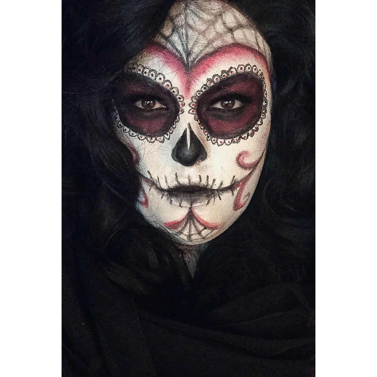 halloween sugar skull makeup male to female drag makeup