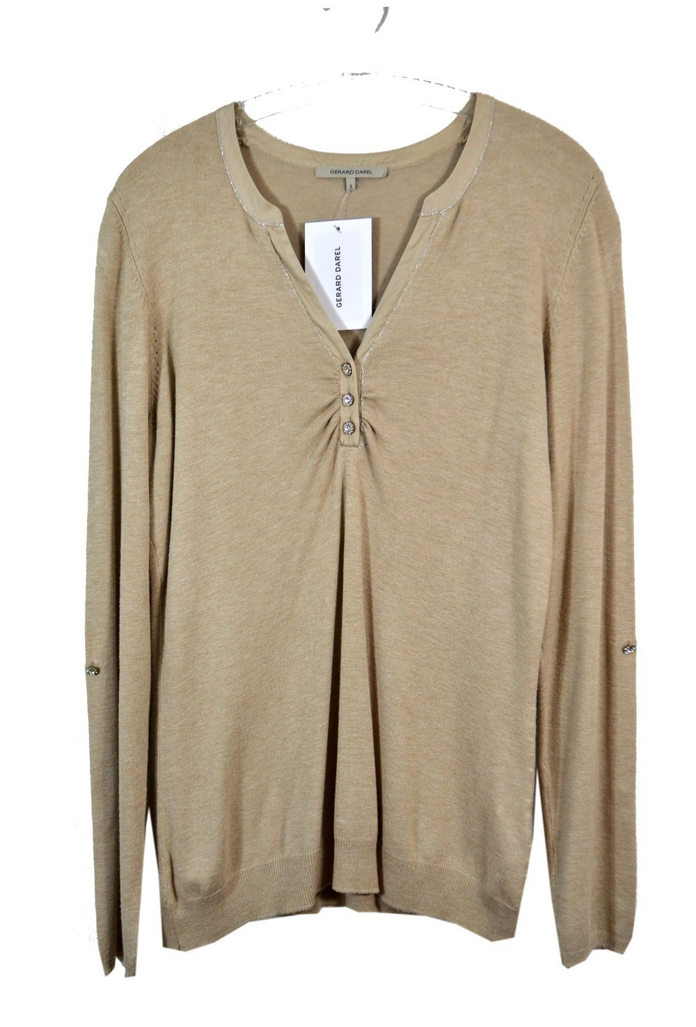 ♥ GERARD DAREL ♥ PULL BEIGE MANCHES RETROUSSABLES T. 40 via LES COCOTTES. Click on the image to see more!
