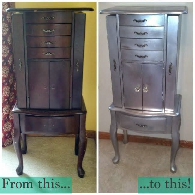 Easy DIY: Jewelry Armoire Makeover
