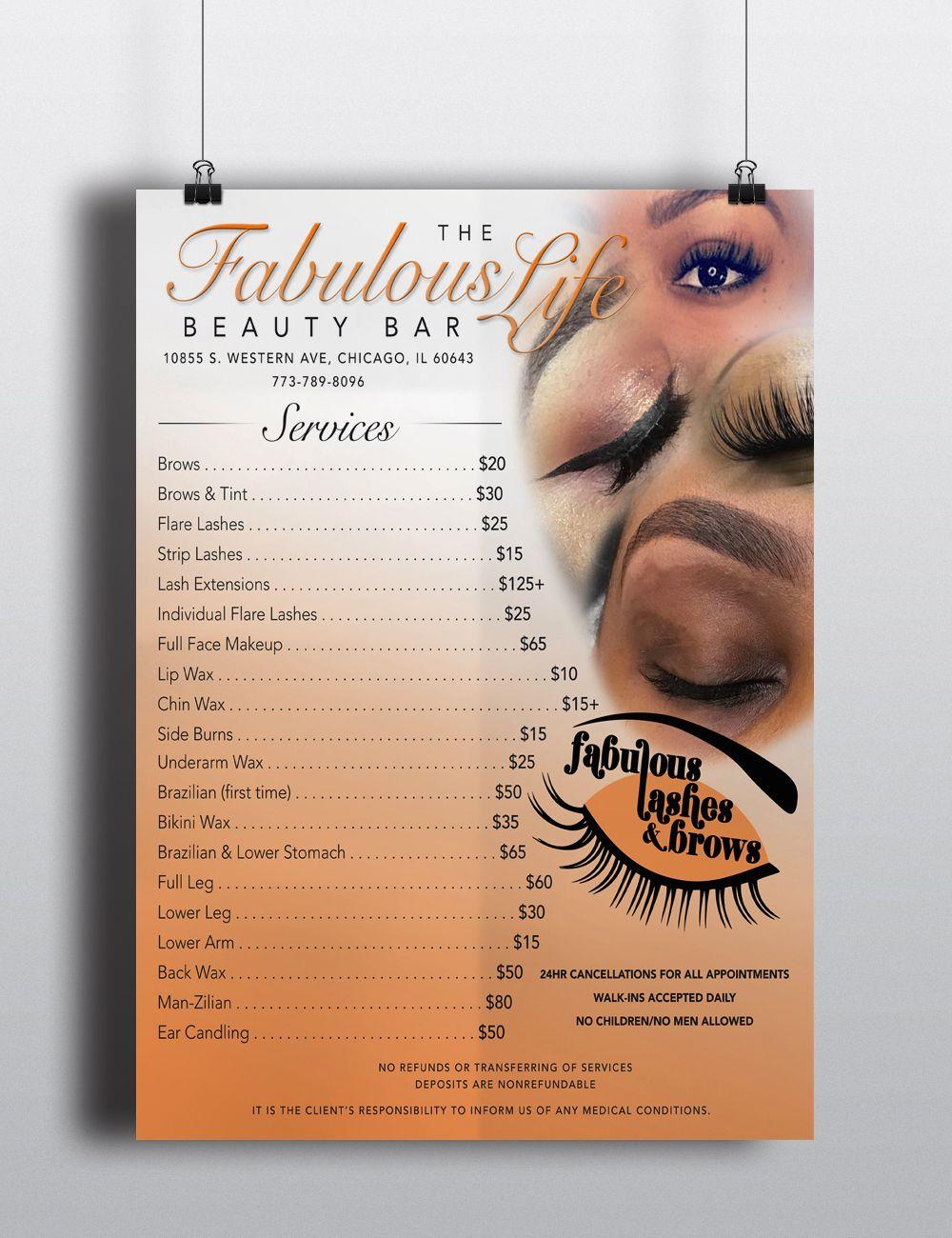 poster design flyer lashes eyelash