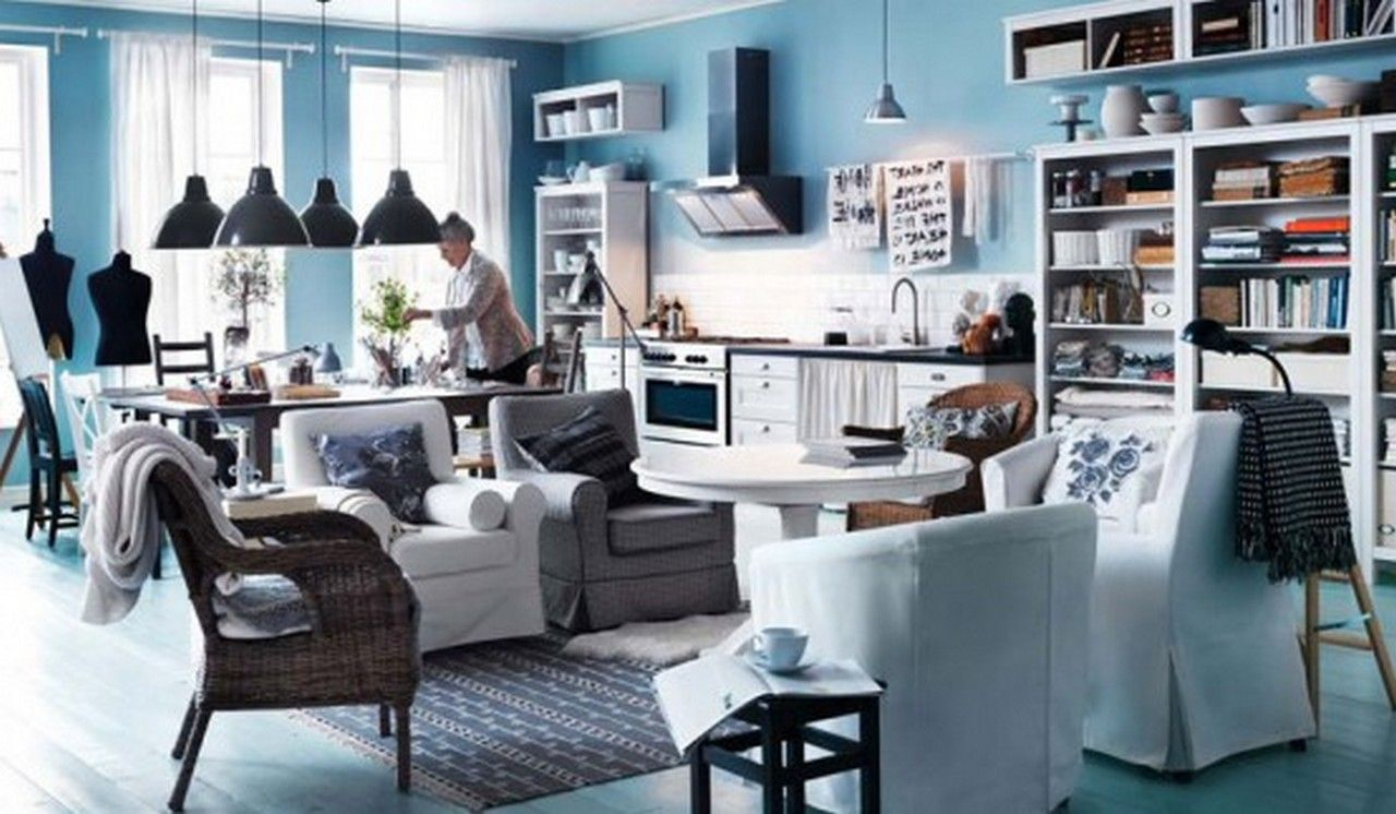 Blue living room design ideas - Wonderful Ikea Living Room Designs Ikea Living Room Design With Light Blue Interior