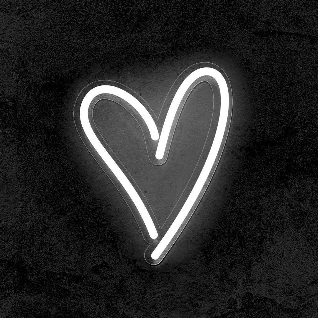 Heart Wedding Led Neon Sign Our Heart Sign Is Using The Newest Technolo Black Aesthetic Wallpaper Black And White Picture Wall Black And White Aesthetic