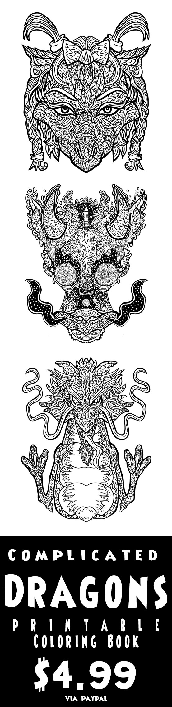 Color your very own Drogon. Printable Dragon Coloring Sheets, by ...