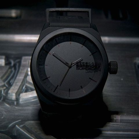 superdry super synth watch all black time pieces superdry super synth watch all black