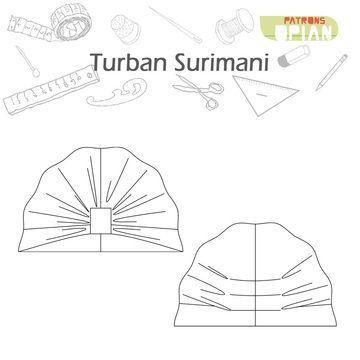 SURIMANI est un patron de couture PDF d\'un turban froncé sur le ...