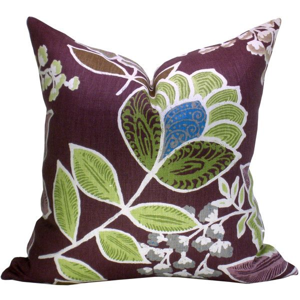 Sulu Pillow Cover In Plum €40 Liked On Polyvore Featuring Home Extraordinary Plum Decorative Pillows