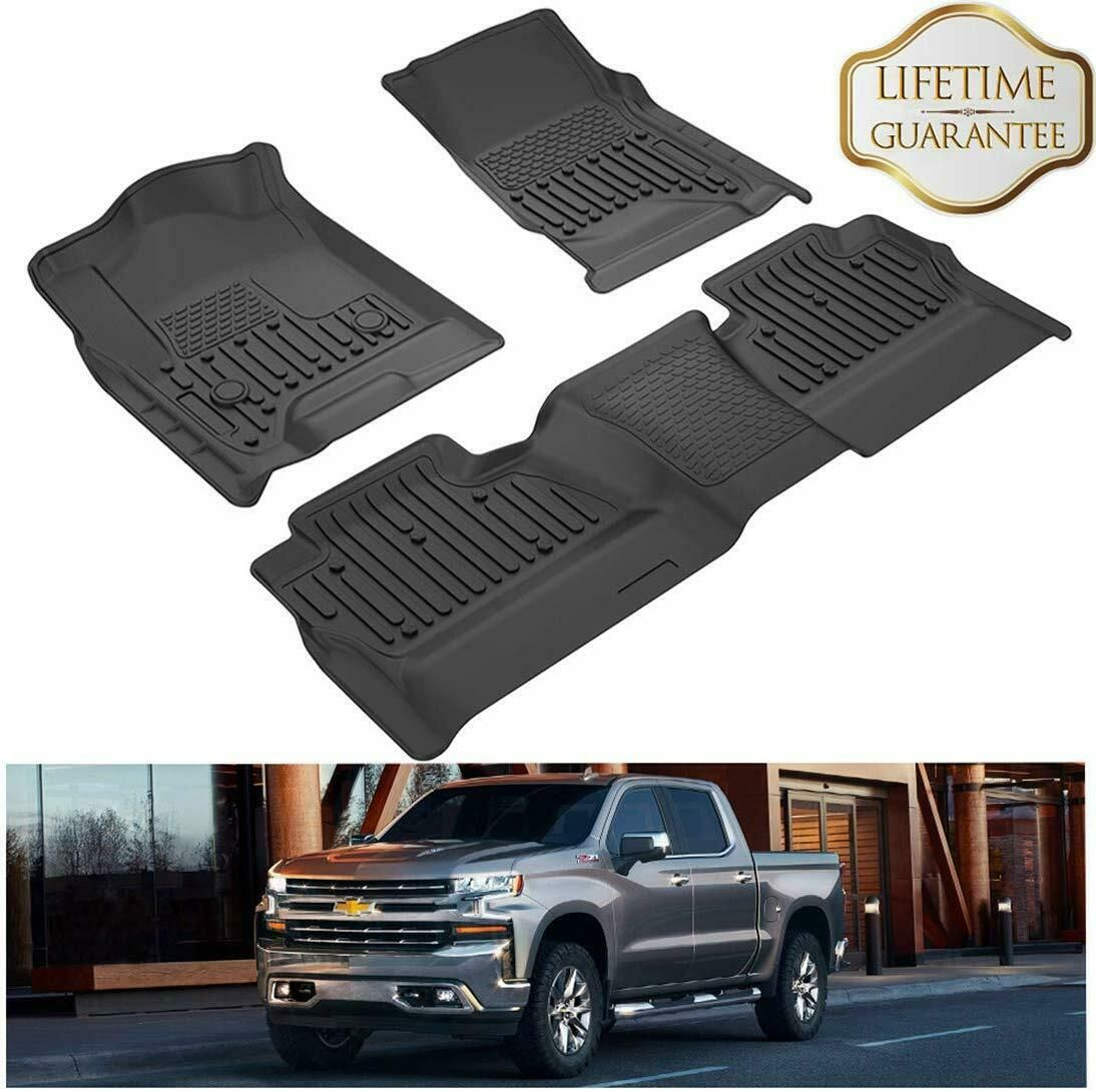 Floor Mats Liners For 2014 2019 Chevrolet Silverado Gmc Sierra